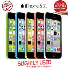 """Apple iPhone 5c - 16/32GB GSM """"Unlocked"""" Great Condition Blue Green White Pink"""
