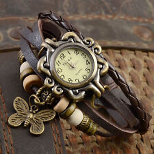 Womens Quartz Vintage Leather Stainless Steel Analog New Wrist Watches Ladies