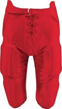 New Martin Adult Football Dazzle Game Pants w Integrated 7 Piece Pad Set Red