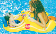 Mother Baby Kids Swimming Seat Ring Water Inflatable Aid Trainer Toddler Float
