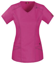 Scrubs Dickies Gen Flex Youtility V-Neck Top 85812 Hot Pink FREE SHIPPING