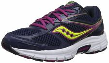 Saucony Women's GRID COHESION 8 Navy/Berry/Citron Comfort Running Sneakers