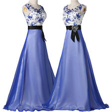 Retro Long Evening Prom Dresses Sexy Party Formal Gown Size 2 4 6 8 10 12 14 16