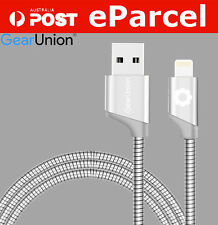 1M Strong Metal Braided Lightning Fast Charger Sync USB Cable For iPhone SE 6 6S