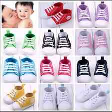 Infant Toddler Canvas Sneakers Baby Boys Girls Soft Sole Anti-Slip Shoes 0-12 M