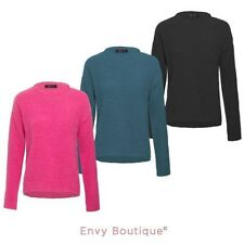 BRAVE SOUL LADIES WOMENS CREW NECK BRUSHED KNIT JUMPER SWEATER KNITTED PULLOVER