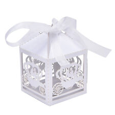 10/50/100x Laser Cut Married Wedding Favor Box Gift Box Candy Paper Party Box HG