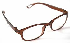 MT16 Stylish Retro Brown Reading Glasses+ Free Case 30p Postage for Extra Pairs