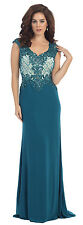 TheDressOutlet Cap Sleeve Sequins Mesh Mermaid Fit Plus Size Formal MOB Gown