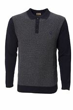 Mens Knitted Polo Shirt Long Sleeve Sweater Jumper Top by Gabicci Size S-XXL