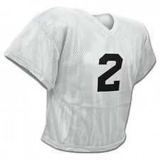New Champro FJ2 Mesh Waist Length Football Youth Adult Practice Jersey White