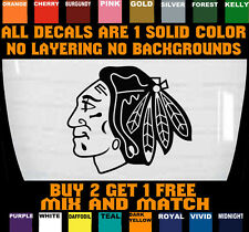 CHICAGO BLACKHAWKS DECAL VINYL BUMPER STICKER CAR TRUCK BUY 2 GET 1 FREE