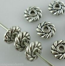 120/1000pcs Tibetan silver Daisy Flower Spacer Beads 6mm