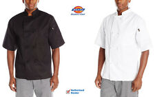 Dickies Chef Coat Short Sleeve Cloth Knot Buttons Chef Jacket DC123