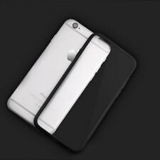 Hard Matte Clear Back Case with Soft Silicone TPU Bumper Cover for iPhone 5 6 6p