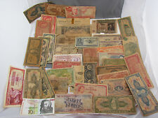 Assorted Random Lot Of Vintage Old Foreign Bank Notes Paper Money Currency