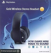 NEW PlayStation Gold Wireless Stereo Headset