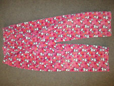 H&M GIRLS PINK SNOOPY VELOUR TROUSERS JOGGING BOTTOMS AGE 3-4 YEARS