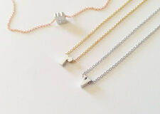 Dainty Lowercase Silver Initial Letter Charm Necklace Bridesmaid Holiday Gift