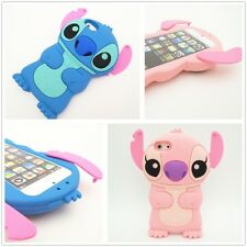 3D Cute Stitch Movable Ear Silicone Soft Case Cover For Apple iPhone 5 5G 5S SE