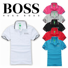 Hugo Boss Hot Men Brand New Green Label Casual Polo T- Shirt Short Sleeved M,L