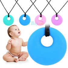 Novelty Silicone Baby Teether Teething Safe Pendant Chew Nursing Necklace Gift