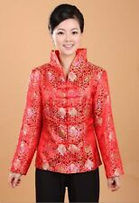 Charming Chinese Women's Silk jacket /coat Red Sz 8 10 12 14 16 18