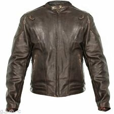 Xelement B7203 Retro Brown Premium Leather Speedster Motorcycle Jacket
