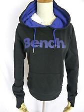 New Bench Women Yohstar Cotton Sweatshirt Pullover hoodie Black Blue Sz XS