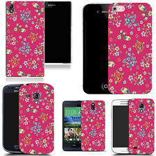 Patterned Case Cover For Various Mobile Phones - Pink Blossoming Floral