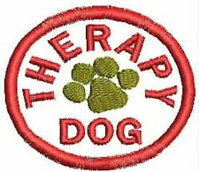 Therapy Service Dog Patch Round Shaped Dog Vest Patch Crest Small Black White