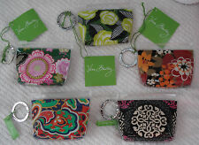 Vera Bradley ZIPPIDY KEYCHAIN Plasitc Coin Pouch with Key Ring Choice of Pattern