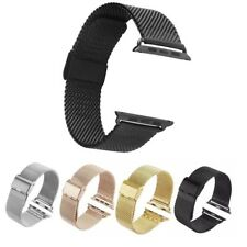 Mesh Stainless Steel Watch Bands Adapters Strap For Apple Watch iWatch 38/42mm