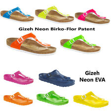Birkenstock Gizeh Neon EVA Sandals Shoes Birko-Flor Patent | regular - narrow |
