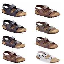 Birkenstock Milano Sandals Birko-Flor Nubuck Smooth Leather Shoes women men