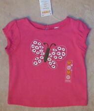 NWT Gymboree SPRING SOCIAL DAISY DELIGHTFUL Pink Big Floral Butterfly Top