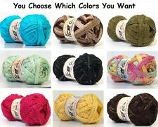 Ice Flamenco Ruffle Net Scarf Yarn Knit Crochet Lots Colors-U CHOOSE Free Ship