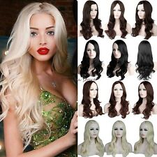 Women Lady Wig Long Curly Layer Wavy Full Wigs Cosplay Costume Party Fancy Dress