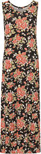 Womens Plus Floral Maxi Long Dress Print Sleeveless Stretch Bodycon Ladies