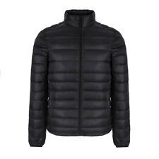 Portable Men's Down Coat New Casual Mens Down Jacket  Warm Stand Collar