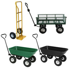 Wheel barrow/Garden Yard Dump Cart Dumper/Wagon Carrier/Hand Truck Dolly Utility