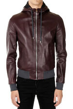 DOLCE&GABBANA Man Hooded Leather Jacket Made in Italy