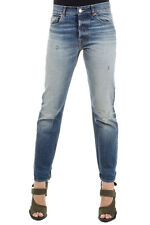GOLDEN GOOSE DELUXE BRAND Women Cotton Jeans Delave vintage effect italy made