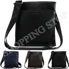 Fashion Mens Faux Leather Shoulder Messenger Travel Hiking Work Casual Small Bag