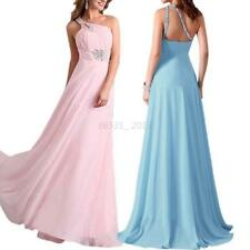 New Sexy Chiffon Long Dress One Shoulder Thin Ball Gown Evening Party Maxi Dress