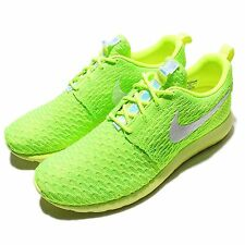 Nike Roshe NM Flyknit One Run Volt Green Mens Running Shoes Sneakers 677243-701