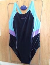 "NEW WITH TAGS SPEEDO WOMENS RELAY SPLICE  SWIMSUIT UK SIZE 42"" CHEST (105cm)"