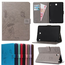 Retro Pu Leather Flip Card Wallet Case Cover For Samsung Galaxy Series Tablets