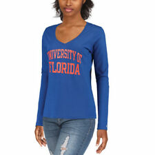 Champion Florida Gators Women's Royal University Long Sleeve V-Neck T-Shirt