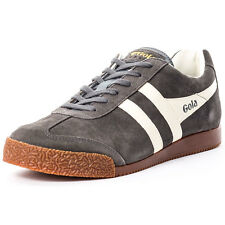 Gola Harrier Mens Trainers Grey Ecru New Shoes